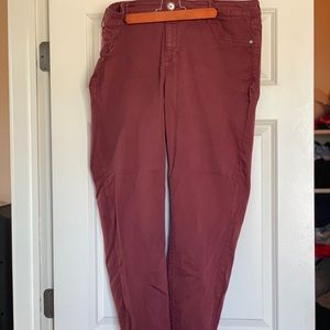 Maroon Jeggings; Maurice's; plus size 22